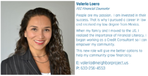 Valeria FEC Financial Counselor